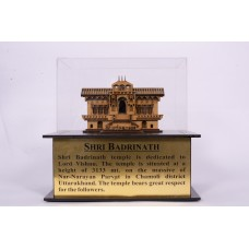 Badrinath - 3D Wooden miniature Replica inside fiber Glass box