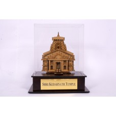 Kedarnath - 3D Wooden miniature Replica inside fiber Glass box